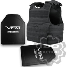 """Condor XPCL EXO Molle Infantry Operator Plate Carrier (Black) + VISM Hard Ballistic Armor Panel Level III (UHMWPE) 10""""X12"""" Shooters Cut / Single Curve"""