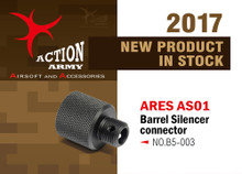Action Army AAC-B05-003 Strike AS01 Barrel / Silencer Connector for Elite Force/Ares
