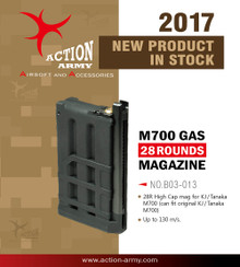 Action Army AAC-B-03-013 AAC21 High Cap GAS Magazine 28 round for AAC21 & M700 Gas Sniper Rifle Airsoft Gun