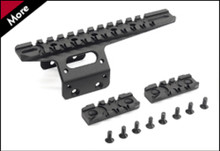 Action Army AAC-T10-29 T10 CNC Front Rail Set - Black Color