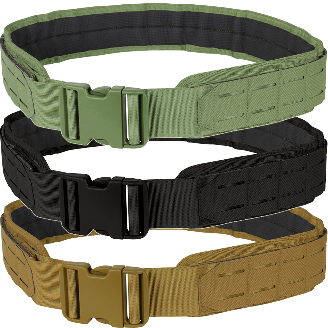 Condor Modular LCS VAS MOLLE Tactical Belt Military Style Army Black