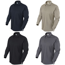 Condor 101120 Performance Polo Long Sleeve-Black/ Sand/ Navy Blue/ Graphite