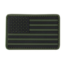 Condor 181004 PVC Flag Patches- OD Green/ Tan/ Navy Blue/ Red/ Coyote Brown