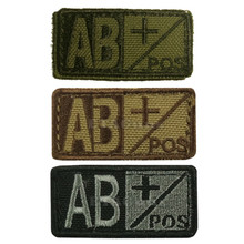 Condor 229AB+ Velcro Blood Type Morale Patch AB Positive AB+ OD Green, Tan/Brown, Black/Foliage