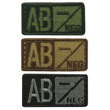 Condor 229AB- Velcro Blood Type Morale Patch AB Negative AB- OD Green, Tan/Brown, Black/Foliage