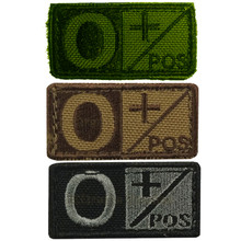 Condor 229O+ Velcro Blood Type Morale Patch O Positive O+ OD Green, Tan/Brown, Black/Foliage
