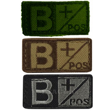 Condor 229B+ Velcro Blood Type Morale Patch B Positive B+ OD Green, Tan/Brown, Black/Foliage