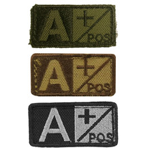 Condor 229A+ Velcro Blood Type Morale Patch A Positive- OD Green, Tan/Brown, Black/Foliage