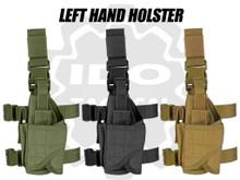 Condor 171170 Tornado Tactical Leg Holster (Left Hand)- OD Green/ Black/ Coyote Brown