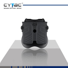 Cytac CY-MPU Universal Double Mag Pouch with Paddle Attachment Fits 9mm, .40, .45 Single or Double Stack Magazine
