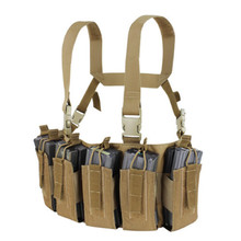 Condor US1051-019 Barrage Chest Rig QD Buckles Holds 12 Rifle Mags -Brown