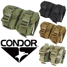 Condor MA14 Double Frag Grenade Pouch- OD Green/ Black/ MultiCam/ Coyote Brown