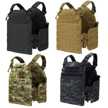 Condor US1218  Molle Tactical Cyclone RS Plate Carrier - Black/ MultiCam/ Coyote Brown
