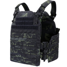 Condor US1218-021 Molle Tactical Cyclone RS Plate Carrier - MultiCam Black