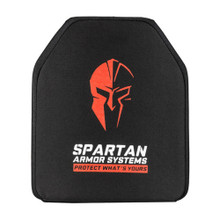 Spartan Armor Systems Level IV Shooters Cut Rifle Ceramic Body Armor - 10X12