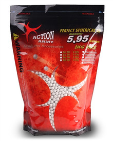 Action Army 6mm Perfect Biodegradable Airsoft BB BBs .25g 0.25g 4000 rds / 1 Kg Pack White