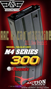 Airsoft Magazine (300 RDS) - Action Army Metal M4 / M16 Series HI-CAP for AEG Airsoft Gun