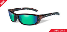 WILEY X P17 POL EMERALD LENS/GLOSS DEMI FRAME