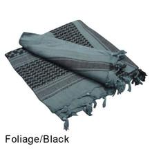 Condor 201-006 Shemagh 100% Cotton Scarf Head Wrap Bandana keffiyeh- Foliage/Black