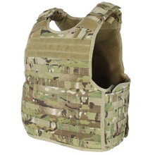Condor QPC-008 Molle Tactical Defender Plate Carrier Body Armor Vest Rig- MultiCam