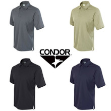 Condor 101060 Performance Tactical Polo Shirt w/Moisture Wicking Knitted