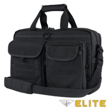 Condor 111072 Tactical Elite Metropolis Briefcase Travel Shoulder Bag- Black/ Brown/ Slate