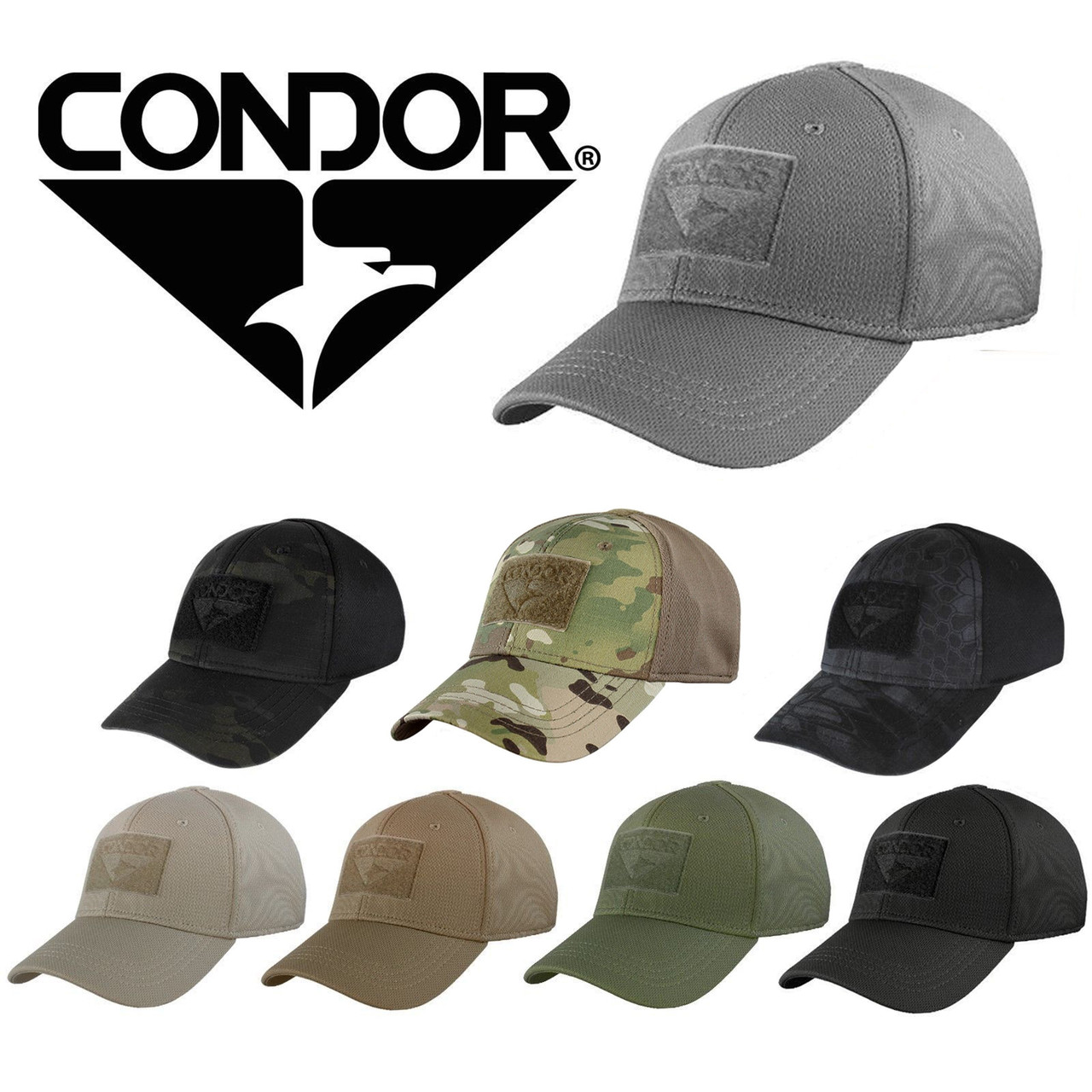 Condor 161080 Flex Tactical Flex Military Combat & Hunting Ball Cap