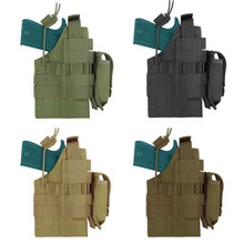 Condor H-1911 Tactical MOLLE Ambidextrous Pistol Holster with Mag Pouch- OD Green/ Black/ Coyote Brown