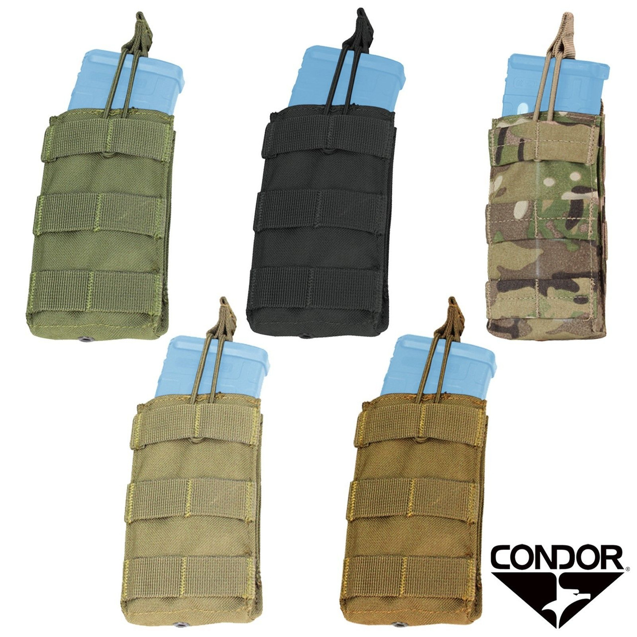 Condor MA19 Double Open Top 5.56 Mag Pouch Black Tactical Rifle Molle Pouch