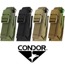Condor 191062 Tactical SWAT Police Military Single Flashbang MOLLE Pouch - OD Green/ Black/ Coyote Brown