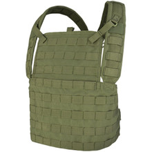 Condor MCR1 MOLLE Tactical Style Chest Rig Plate Carrier Vest- OD Green/ Black/ Coyote Brown
