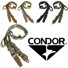 Condor US1009 STRYKE Tactical Two Point Bungee Rifle Sling- OD Green/ Black/ Tan/ MultiCam/ Coyote Brown