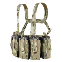 Condor US1051-008 Barrage Chest Rig QD Buckles Holds 12 Rifle Mags - Multicam