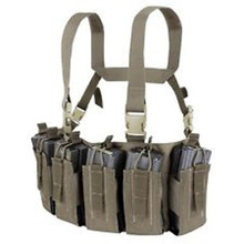 Condor US1051-025 Barrage Chest Rig QD Buckles Holds 12 Rifle Mags -Ranger Green