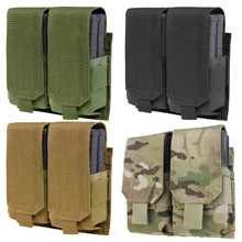 Condor 191089 MOLLE Tactical Double .308 or 7.62 Rifle Magazine Pouch- OD Green/ Black/ Coyote  Brown