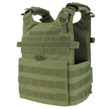 Condor 201039 Tactical MOLLE Gunner Lightweight Plate Carrier Vest- OD Green/ Black/ Tan