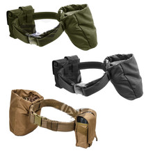 Gryffon 90102 Dragonspine Tactical Belt with magazine pouches & drop dump pouch- OD Green/ Black/ Tan