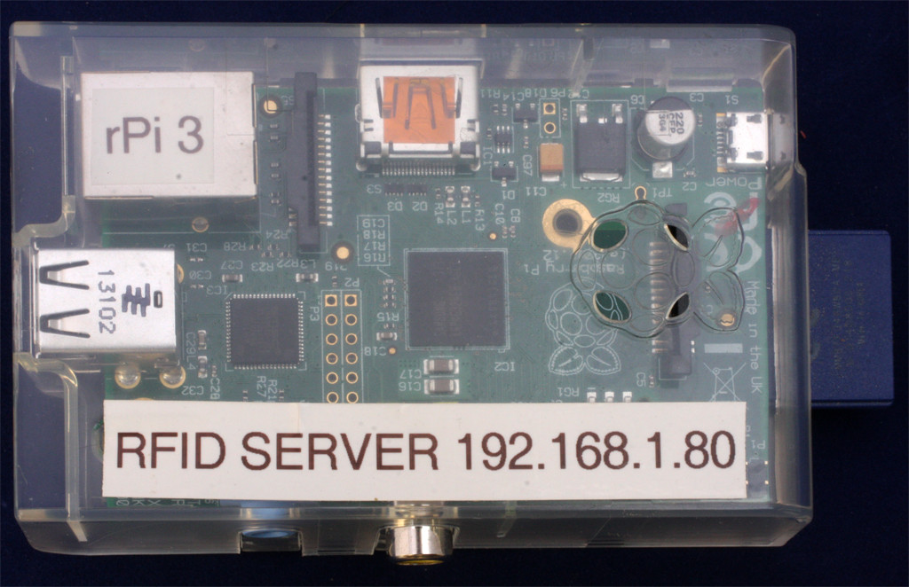 RFID Server Packaged on a Raspberry Pi Processor