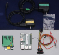 Includes RFID server, Arduino Uno R3, Ethernet Shield and Dual Reader Shield, cables, power supplies, 1 ID12LA reader and a package of 10 RFID tags.  Does NOT include Ethernet cables, or the backboard shown.