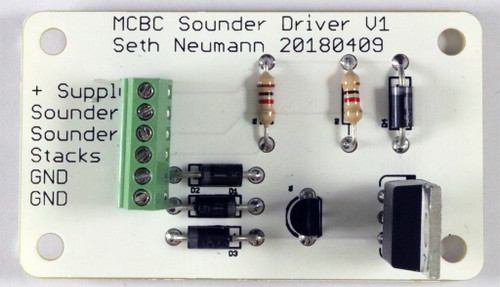Sounder Drive for a single channel of high current (<10A Momemtary) inductive load such as a telegraph sounder