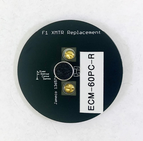 The F1 Transmitter replacement has pads for several low cost electret microphones, available from Jameco.  We like the EM-60C-R