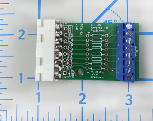 Molex to 3.5mm Break Out Board with resistor pads, Assembled
