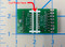 Bottom of board showing cuttable traces