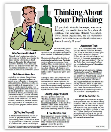 Thinking about Your Drinking DOT Supervisor Training Handout and Tip Sheet