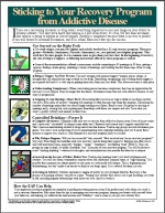 tip sheet for recovering persons