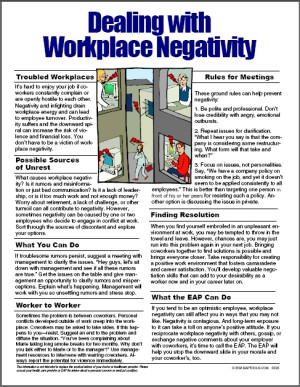 Image for Dealing with Workplace Negativity