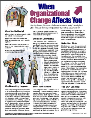 Image for When Organizational Change Affects You