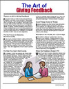 Image for The Art of Giving Feedback