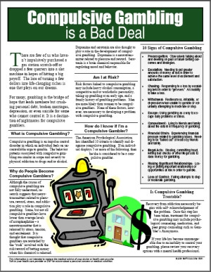 Image for Compulsive Gambling is a Bad Deal