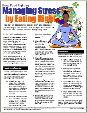 Image For Managing Stress by Eating Right